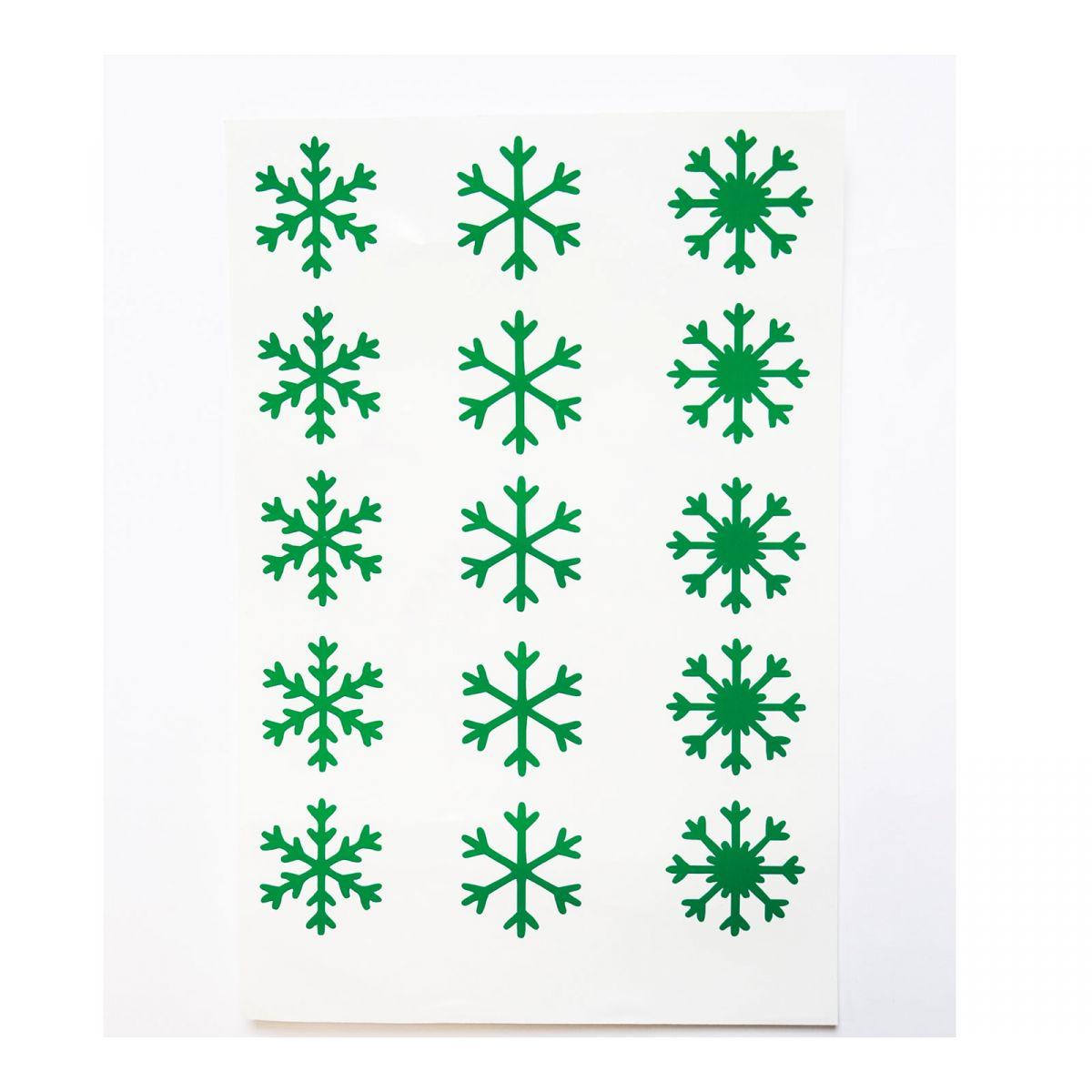 Flocons de neige Vinyle vert