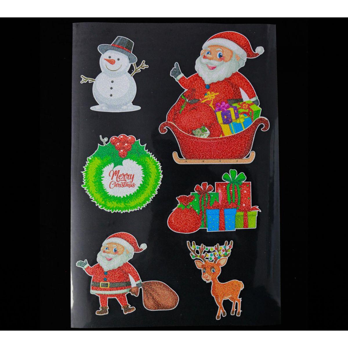 Planche de Noël n°4 Imprimable pailleté