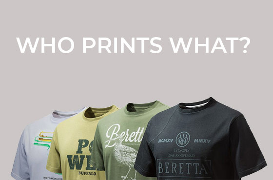 Who prints what?